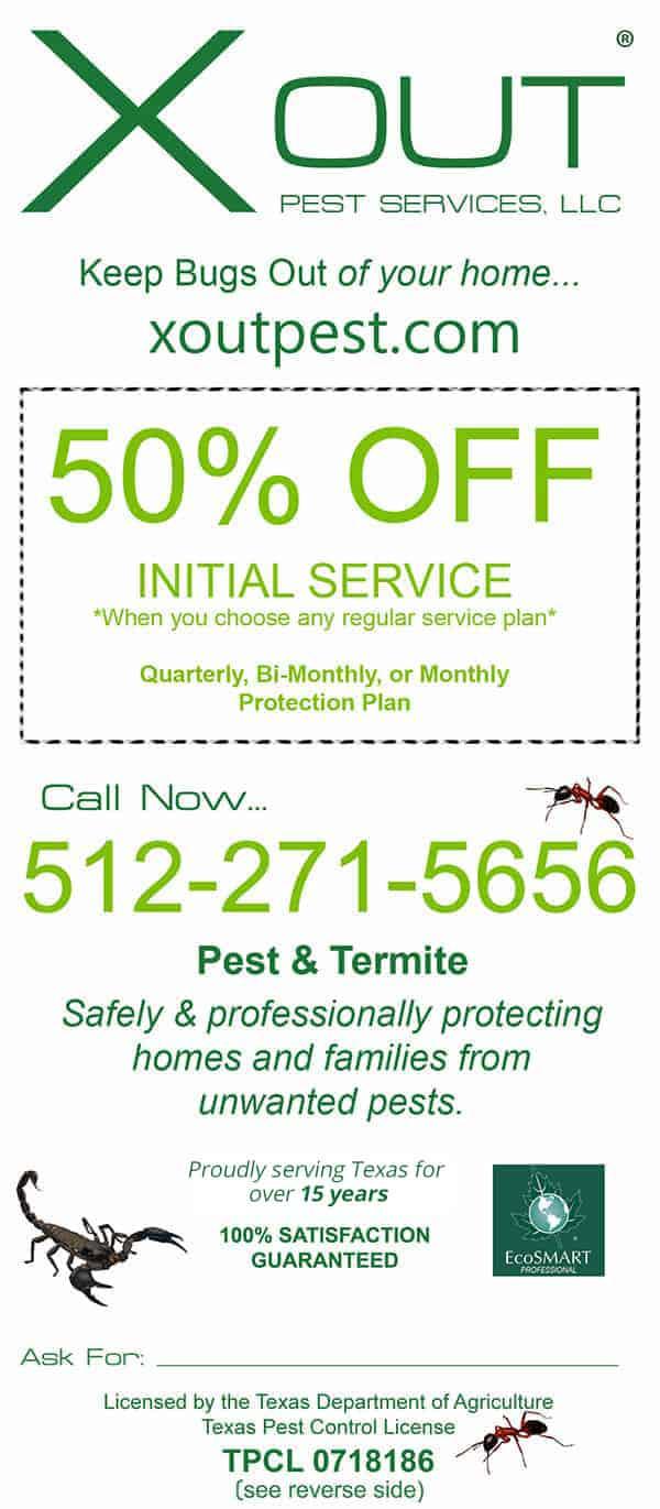 Austin Pest Control Discounts