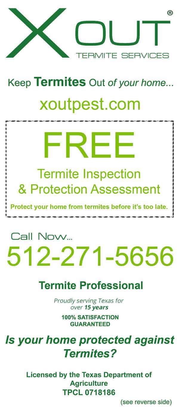 Austin Termite Control Discount Flyer